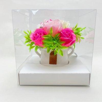 花|ソープフラワー|トライアングルポット