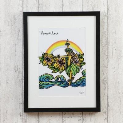 アートプリント Hulagirl&Rainbow