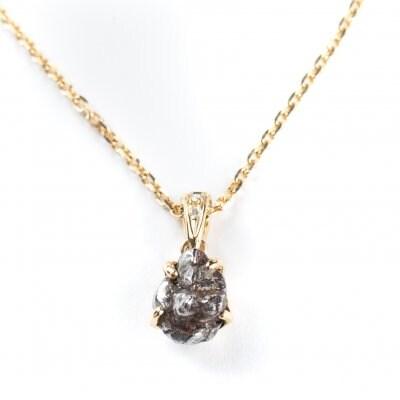 【ベストセラー】南端隕石18金天然ダイヤモンドネックレス