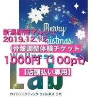 【新潟駅南マルシェ専用】骨盤調整体験チケット(店頭払い専用)