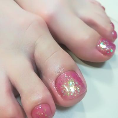 【甘皮ケア+マニキュア仕上げコース】¥5,500