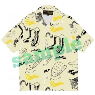 高ポイント還元!天龍源一郎×ハオミン・アロハシャツ(クリーム)XLサイズ
