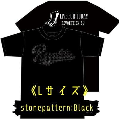【新作】LIVEFORTODAY&RevolutionラインストーンTシャツ《ブラック》Lサイズ