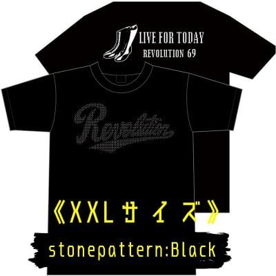 【新作】LIVEFORTODAY&RevolutionラインストーンTシャツ《ブラック》XXLサイズ