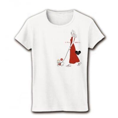 かなつ久美オリジナルイラスト付き✦愛犬とお揃いTシャツずっと一緒ホワイト