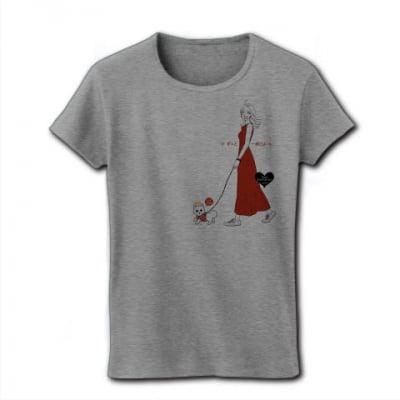 かなつ久美オリジナルイラスト付き✦愛犬とお揃いTシャツずっと一緒グレー