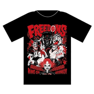 FREEDOMS×GRAPE BRAIN KING OF DEATHMATCH Tシャツ XLサイズ