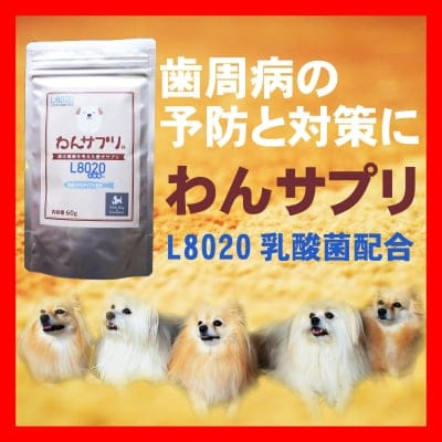 【ワンコの口臭と歯周病に効く L8020乳酸菌配合】愛犬向けサプリメント わんサプリ 60g入り【送料無料】