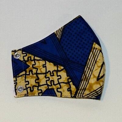 アフリカ布のマスク(標準サイズ)
