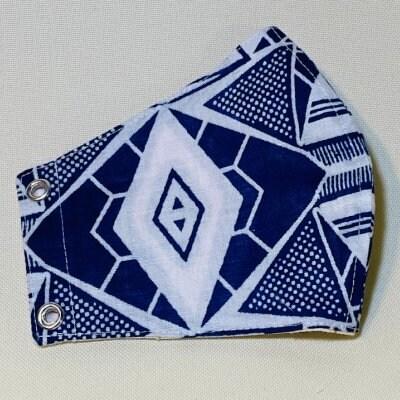 アフリカ布のマスク(標準サイズ)店頭払い不可