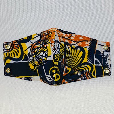 アフリカ布のマスク(標準サイズ) 店頭払い不可