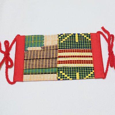 【カラフルが楽しくなる】アフリカ布のマスク(子供用サイズ)送料無料!