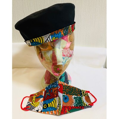 SALE! アフリカ布のマスクと帽子