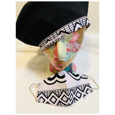 SALE! アフリカ布マスクと帽子