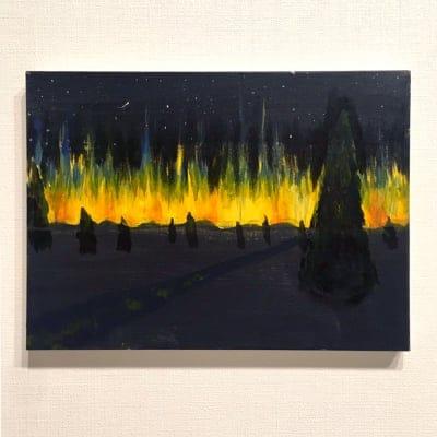 ペイントパーティ講師作品『オーロラ』 by A.kamo
