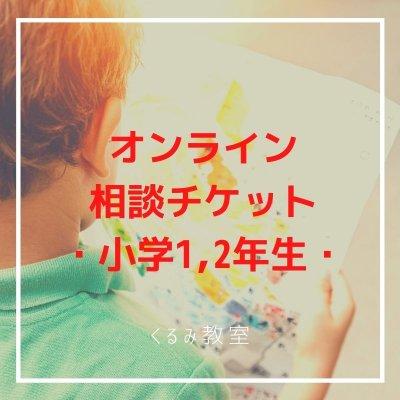 オンライン相談チケット【小学1年生,2年生学習相談】30分