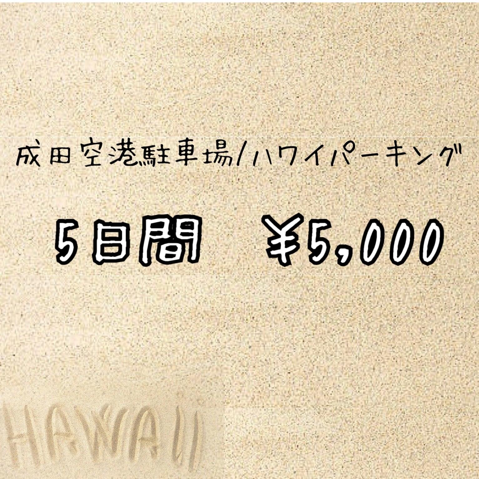 5日間/¥5000【成田空港駐車場・料金】のイメージその1