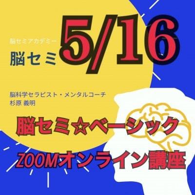 5/16脳セミ ZOOMオンライン  ベーシック講座