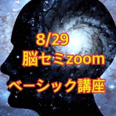 8/29脳セミ ZOOMオンライン ベーシック講座
