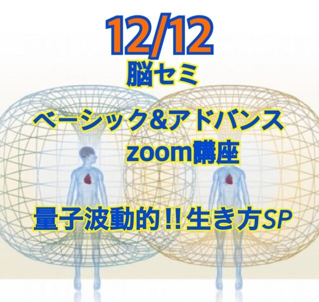 12/12脳セミ ZOOMオンライン  ベーシック&アドバンス講座のイメージその1