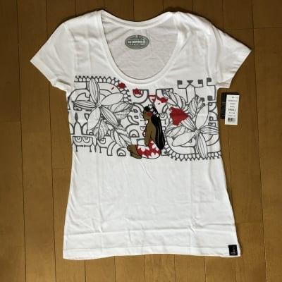 【Hinano Tahiti】レディースTシャツ 〜 コバート/ホワイト 〜 Sサイズ