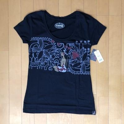 【Hinano Tahiti】レディースTシャツ 〜 コバート/ブラック〜 Sサイズ