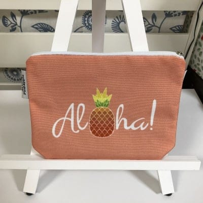 【ALOHA Pineapple】アクセサリーポーチ 〜 ピンクパイナップル 〜