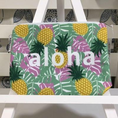 【ALOHA Pineapple】アクセサリーポーチ 〜 イエローパイナップル 〜