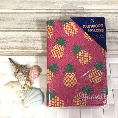 【Island Heritage】パスポートケース 〜 パイナップル ハワイ / ピンク 〜