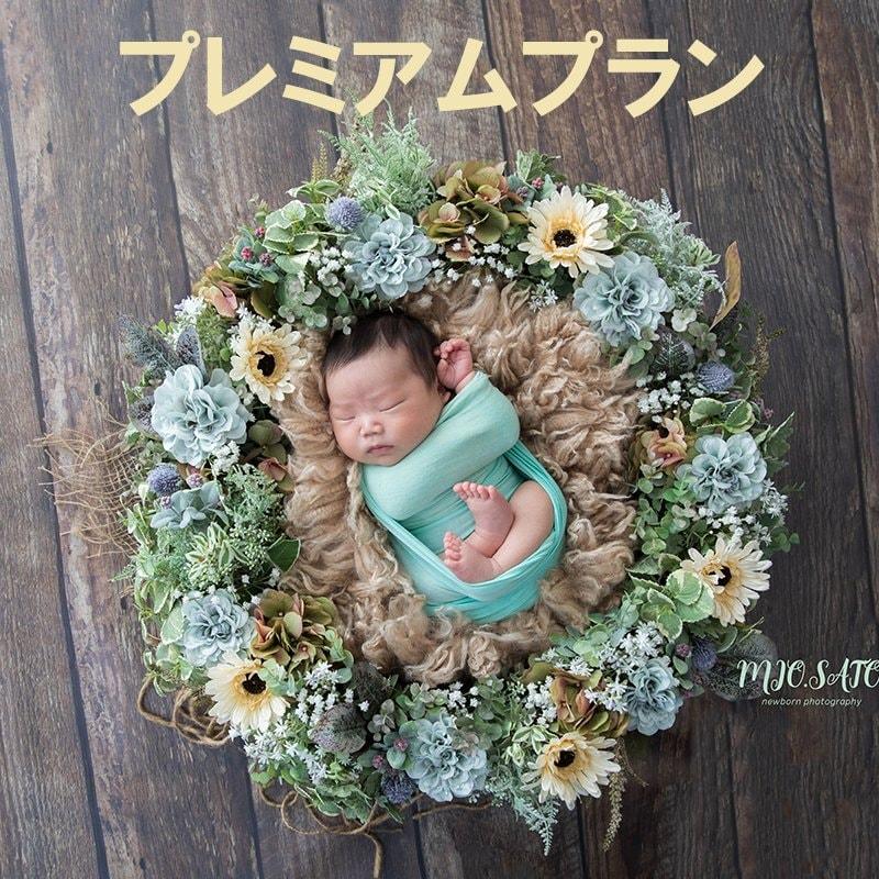 ニューボーンフォト【プレミアムプラン】生まれたての一瞬を残す!新生児・家族写真のイメージその1