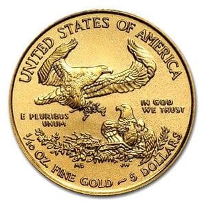 『イーグル金貨 1/10オンス 2017年製 』アメリカ造幣局発行イーグルコイン 金貨