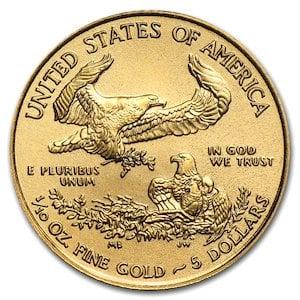 『イーグル金貨 1/10オンス ランダム・イヤー』 アメリカ造幣局発行 イーグルコイン 金貨