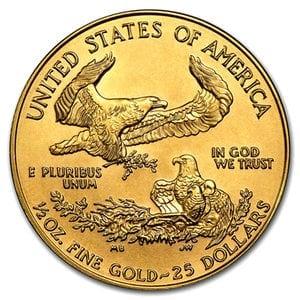『イーグル金貨 1/2オンス (ランダム・イヤー)』 アメリカ造幣局発行 イーグルコイン 金貨