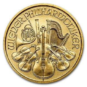 『ウィーン金貨 1/10オンス 2017年 』オーストリア造幣局発行 ウィーン金貨