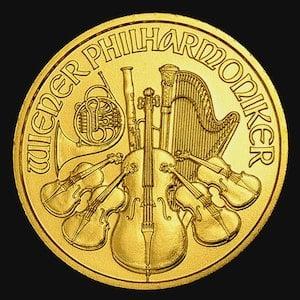 『ウィーン金貨 1/10オンス』オーストリア造幣局発行 ウィーンコイン 金貨