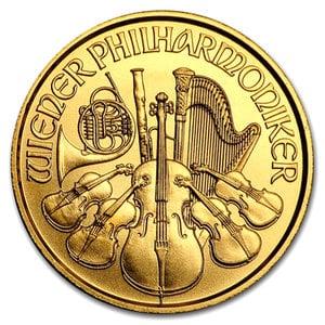 『ウィーン金貨 1/25オンス 2017年製』オーストリア造幣局発行 ゴールドコイン