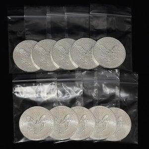『イーグル銀貨 1オンス 10個セット』アメリカ造幣局発行  《安心の本物保証》 【保証書付き・巾着袋入り】