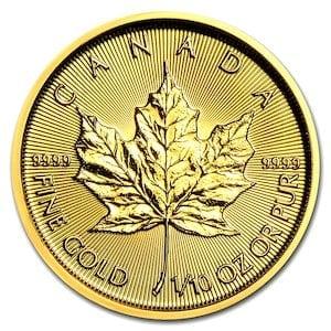 『メイプル金貨 1/10オンス 2018年製』カナダ王室造幣局発行 メイプルリーフ 金貨