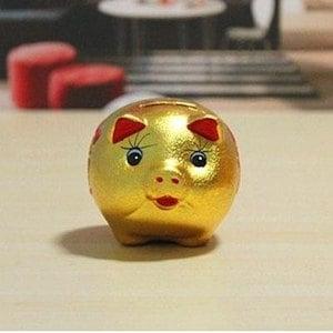 金色がかわいい幸運を招く金ブタ貯金箱 (S)