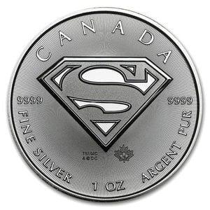 『スーパーマン銀貨 1オンス 2016年製 』カナダ王室造幣局発行 純銀コイン