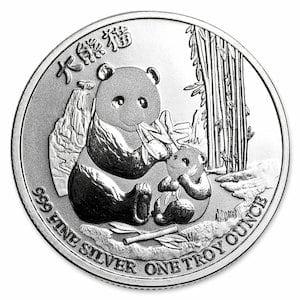 『NZ パンダ銀貨 1オンス 2017年製 』ニュージーランド造幣局発行 純銀コイン