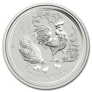 『干支酉銀貨 1オンス 2017年 』オーストラリアパース造幣局発行 純銀コイン