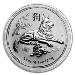 『干支戌銀貨 1/2オンス 2018年 』オーストラリアパース造幣局発行 純銀コイン