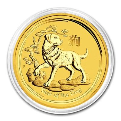 金貨 品位:K24 (99.99%) 純金 《安心の本物保証》 保証書付き 2018年 平成30年 1/20オンス 1.55グラム 干支 いぬ 十二支 戌年 Gold