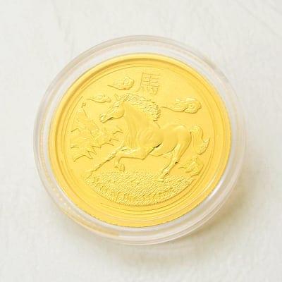 【新品・未開封】 干支馬金貨 1/10オンス 2014年製 クリアケース入り