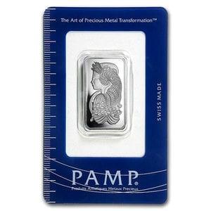 スイス パンプ プラチナバー 1/2オンス  スイス・パンプ社発行 15.5gの純プラチナ INGOT インゴット プラチナ バー 豊穣の角 コルヌコピア 白金 地金型 Pt Platinum