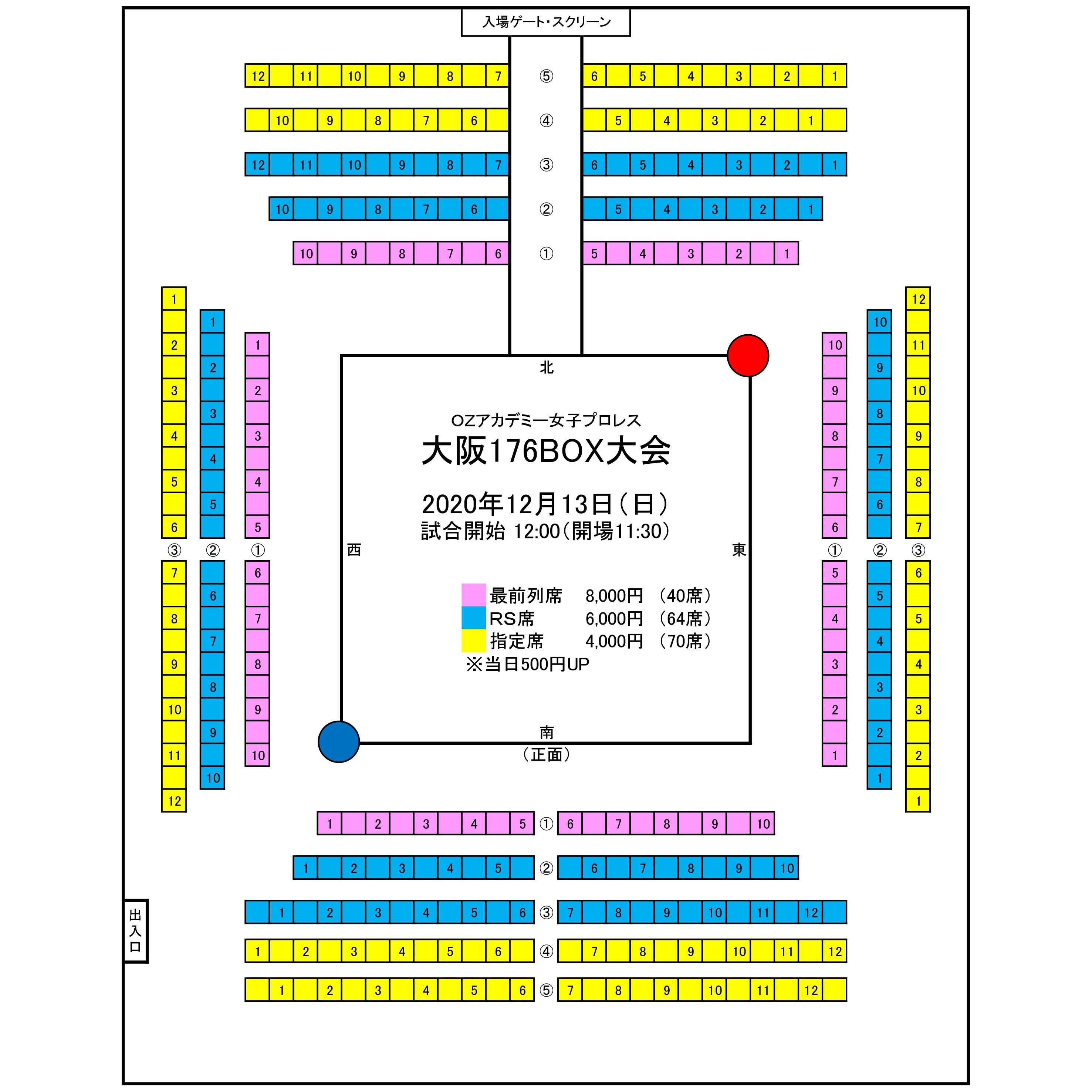12月13日(日)大阪 176BOX[最前列席]のイメージその2