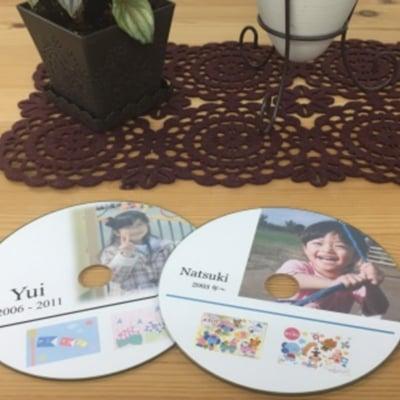 子どもの「思い出の絵」や「工作物の写真」「お母さんへの手紙」などをデータにしてDVDに保存