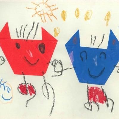 子どもの「思い出の絵」や「工作物の写真」「お母さんへの手紙」などをデータにしてDVDに保存のイメージその3