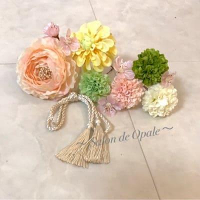【花ピンセット】(和装&ドレス用 髪飾り)カラーオーダー